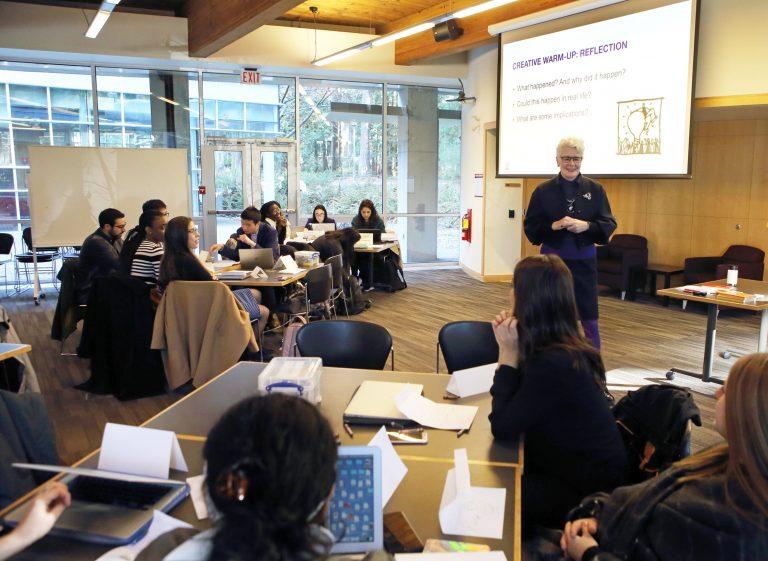 Moura Quayle leading Policy Studio