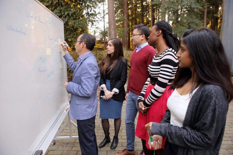 Marcelo Bravo with Policy Studio Students