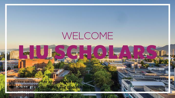 Welcome Liu Scholars - Website FT